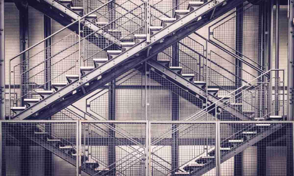 Éscaliers en métal fait en aluminium